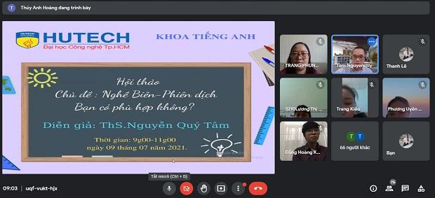 """Sinh viên Tiếng Anh HUTECH khám phá """"bí mật"""" nghề Biên - phiên dịch"""