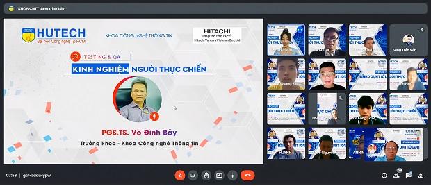 """Sinh viên Công nghệ thông tin HUTECH bắt đầu """"lớp học"""" Testing & QA cùng chuyên gia từ Hitachi Vantara Vietnam"""