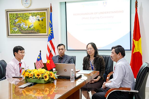 HUTECH ký kết MOU với Đại học Công nghệ Mara (Malaysia)