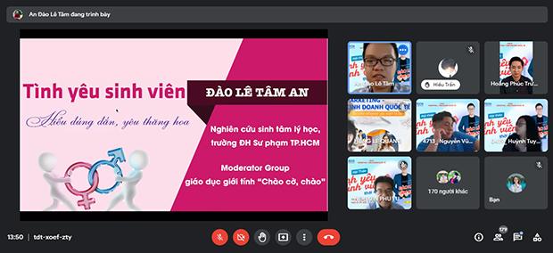 """Chuyên gia Đào Lê Tâm An cùng sinh viên HUTECH định hướng """"Tình yêu sinh viên thời 4.0"""""""