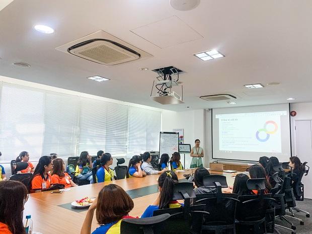 Sinh viên ngành Ngôn ngữ Anh tham quan công ty Avery Dennison Việt Nam