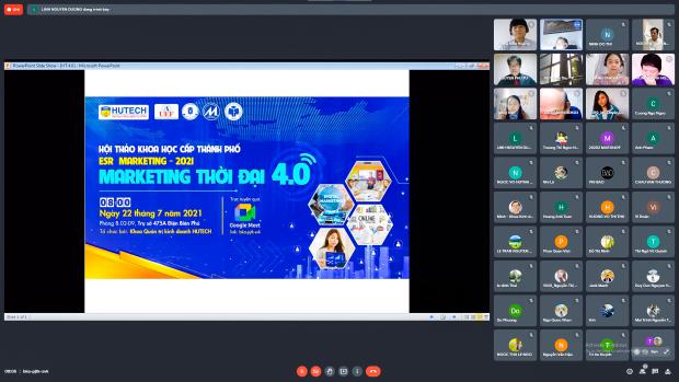 Hội thảo Khoa học cấp thành phố MAR-ESR2021: Nhiều giải pháp thực tiễn cho đào tạo, ứng dụng Marketing thời đại 4.0