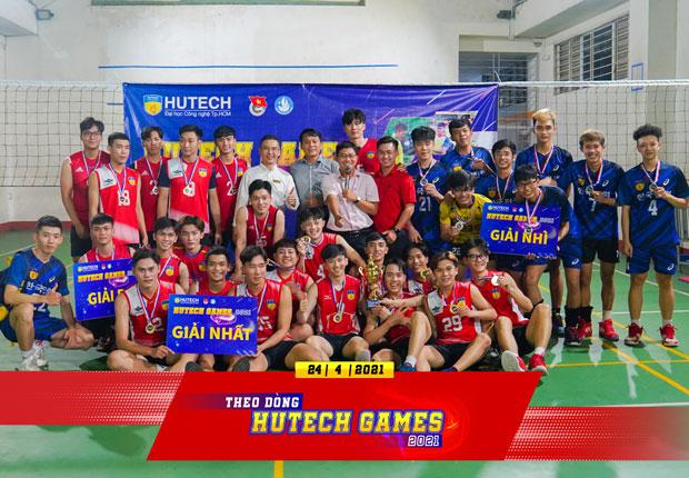 Theo dòng HUTECH Games 2021 - Đội bóng chuyền Nam Viện kỹ thuật đạt á quân môn Bóng chuyền
