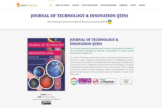 HUTECH ra mắt Tạp chí khoa học Công nghệ & Sáng tạo (Journal of Technology & Innovation - JTIN)