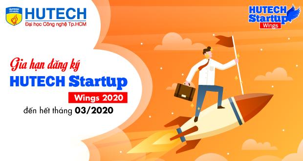 """Gia hạn đăng ký Cuộc thi Sinh viên khởi nghiệp """"HUTECH Startup Wings 2020"""" đến 31/03"""