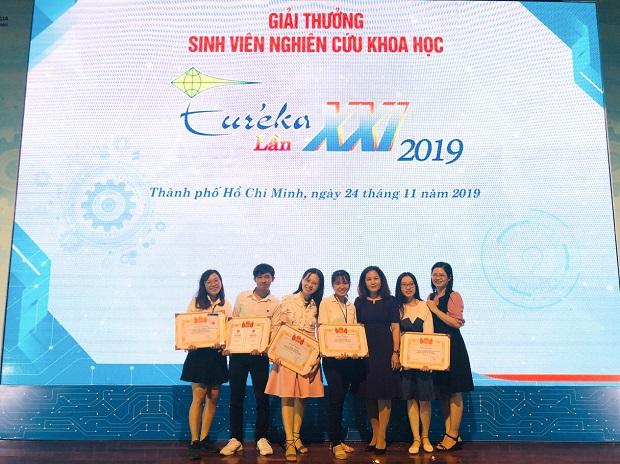 Sinh viên HUTECH đạt 03 giải thưởng tại Giải thưởng Euréka 2019