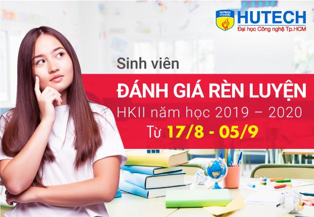 Sinh viên HUTECH sẽ đánh giá rèn luyện HKII năm học 2019 - 2020 từ 17/8