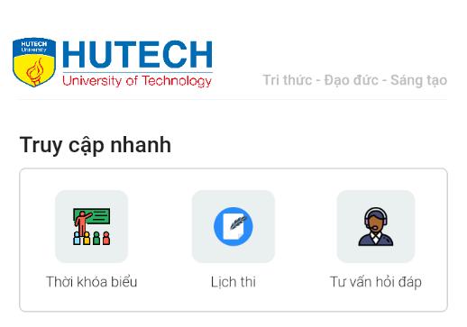 Hướng dẫn xem thời khóa biểu và lịch thi trên ứng dụng e-HUTECH