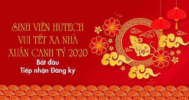 """Chương trình """"Sinh viên HUTECH vui Tết xa nhà - Xuân Canh Tý 2020"""" bắt đầu tiếp nhận đăng ký"""