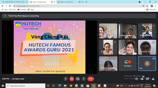 Sinh viên Khoa Tiếng Anh HUTECH so tài kịch tính tại cuộc thi Famous Awards Guru 2021