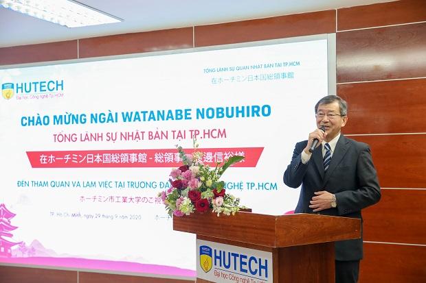 Đón tiếp Tổng lãnh sự Nhật Bản tại TP.HCM đến thăm và làm việc tại HUTECH