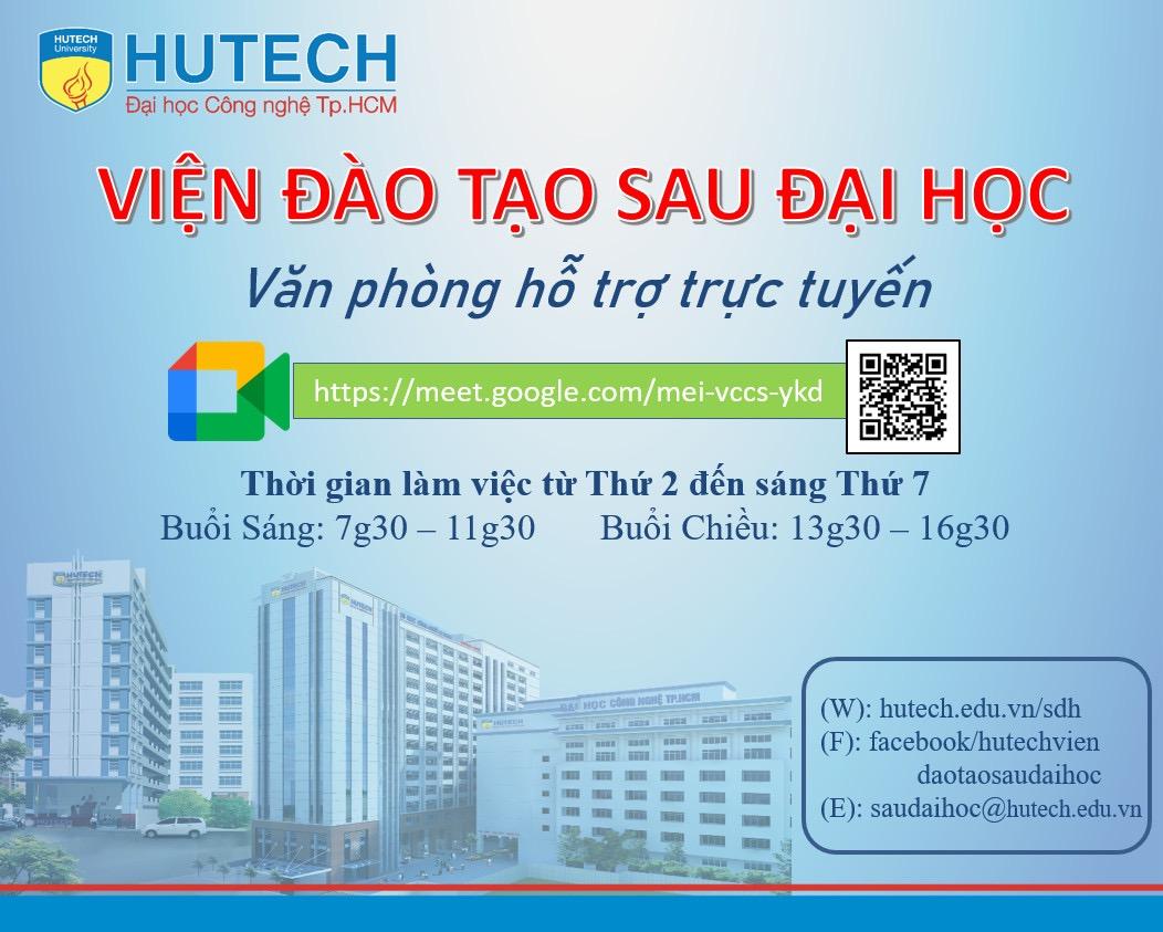 Văn phòng Trực tuyến- Viện Đào tạo Sau Đại học HUTECH