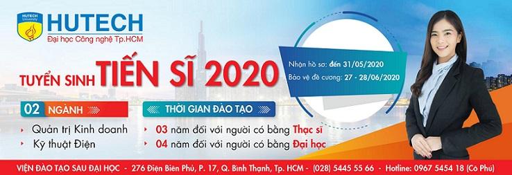 HUTECH thông báo tuyển sinh đào tạo trình độ Tiến sĩ năm 2020 - đợt 2