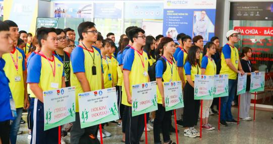 Viện Kỹ thuật HUTECH, VJIT và Khoa Nhật Bản học rộn ràng Lễ khai mạc Hội thao Sinh viên 2019 - 2020