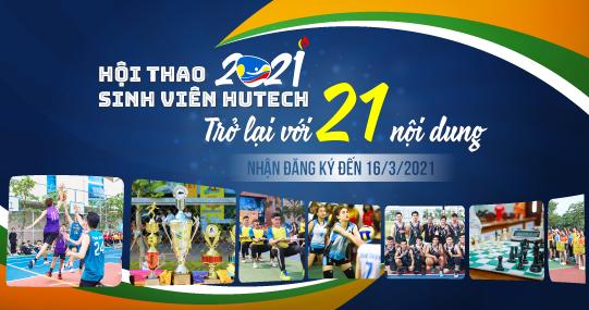 Hội thao Sinh viên HUTECH 2021 trở lại với 21 nội dung thi đấu, nhận đăng ký đến 16/3