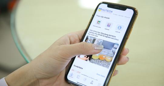 Ứng dụng e-HUTECH cập nhật tiện ích mới cho sinh viên học tập trực tuyến