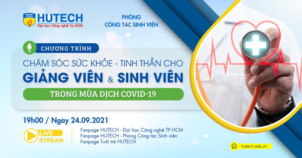 HUTECH sẽ tập huấn chăm sóc sức khỏe thể chất và tinh thần cho giảng viên, sinh viên vào ngày 24/9