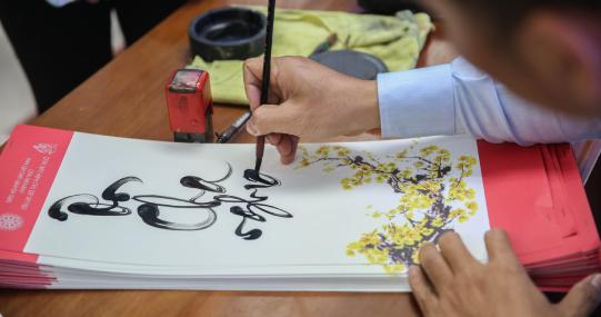 Nghệ nhân Thư pháp Võ Dương chia sẻ về nghệ thuật viết thư pháp - nét đẹp văn hóa truyền thống dân tộc