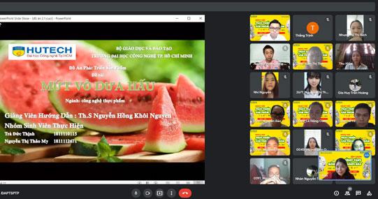 Đồ án Phát triển sản phẩm thực phẩm của sinh viên Công nghệ thực phẩm HUTECH được nhiều doanh nghiệp đánh giá cao