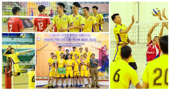 Đội tuyển nam HUTECH giành Huy chương Đồng tại Giải Vô địch Bóng chuyền TP.HCM 2020 ở lần đầu ra quân