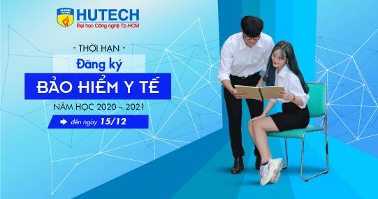 Sinh viên HUTECH đăng ký mua Bảo hiểm Y tế năm học 2020 - 2021 đến ngày 15/12