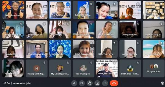 Sinh viên Khoa Hàn Quốc học tham gia tọa đàm trong khuôn khổ KF Global E-school 2021-2022