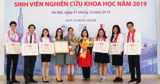HUTECH giành hàng loạt giải lớn tại Giải thưởng Sinh viên NCKH cấp Bộ 2019