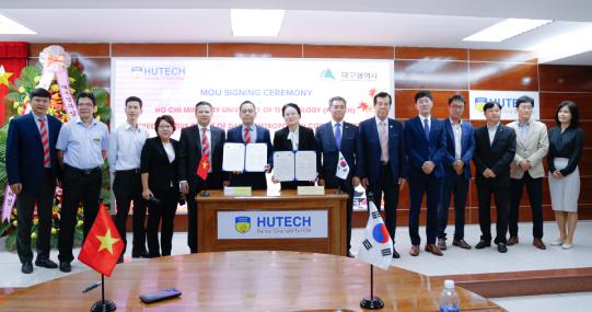"""HUTECH ký kết hợp tác với Văn phòng TP. Deagu: Thêm cơ hội học tập và trải nghiệm """"chuẩn Hàn"""" cho sinh viên"""
