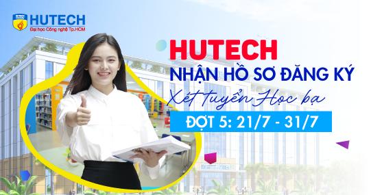 HUTECH nhận hồ sơ đăng ký xét tuyển học bạ đợt 5 đến 31/7