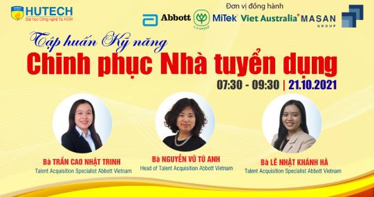 Chuyên gia nhân sự từ Abbott Việt Nam cùng sinh viên HUTECH khám phá bí quyết xây dựng giá trị bản thân