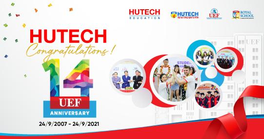 Chúc mừng thành viên Hệ thống Giáo dục HUTECH - Trường ĐH Kinh tế Tài chính TP.HCM (UEF) kỷ niệm 14 năm thành lập