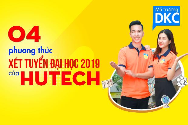 04 phương thức xét tuyển đại học 2019 của HUTECH