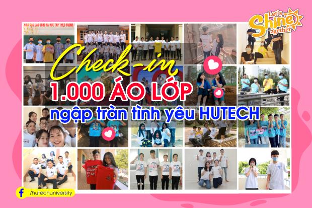Check-in 1.000 áo lớp ngập tràn tình yêu HUTECH