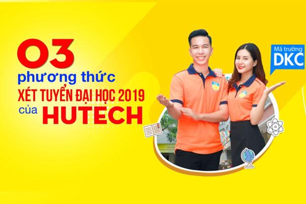 03 phương thức xét tuyển Đại học năm 2019 của HUTECH