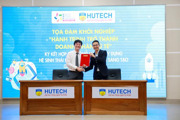 HUTECH và SVF cam kết đồng hành hỗ trợ sinh viên khởi nghiệp